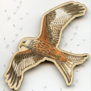 large red kite bird of prey brooch