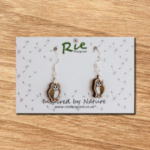 barn owl drop earrings