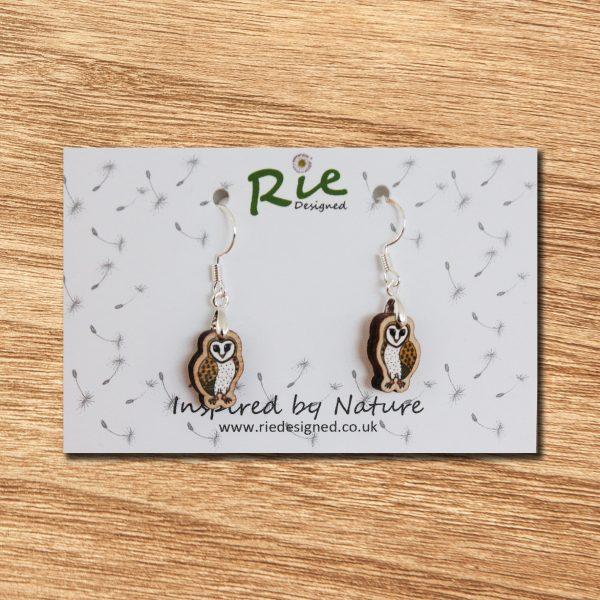 barn owl drop earrings