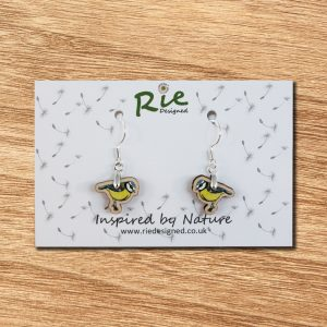 bluetit drop earrings