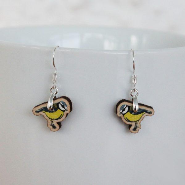 bluetit drop earrings