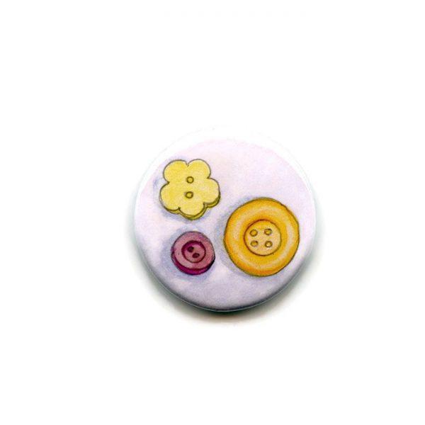 buttons fridge magnet