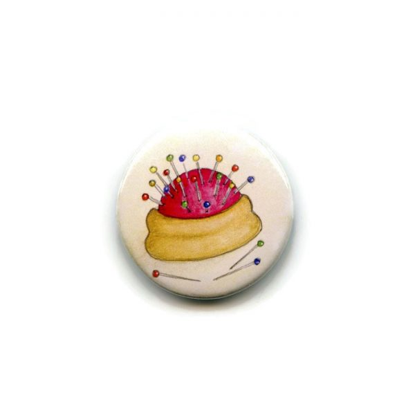 pincushion fridge magnet