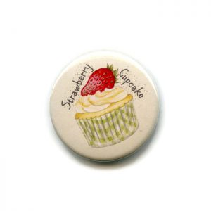 strawberry cupcake magnet