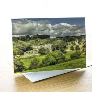 dundrennan abbey photo greetings card