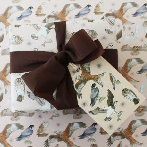 bird of prey gift wrap
