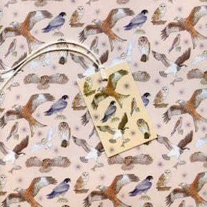 bird of prey gift wrap