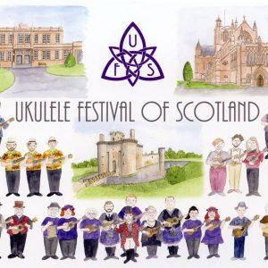 Ukulele Festival of Scotland A5 Print