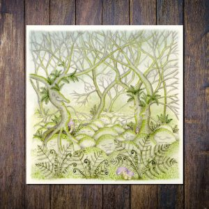 Enchanted Forest Blank Square Greetings Card