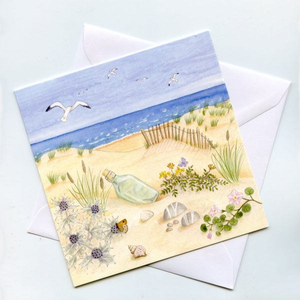 Scottish Coast Blank Square Greetings Card