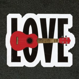 Love Ukulele Sticker