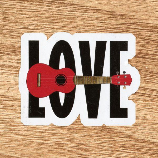 Love Ukulele Sticker