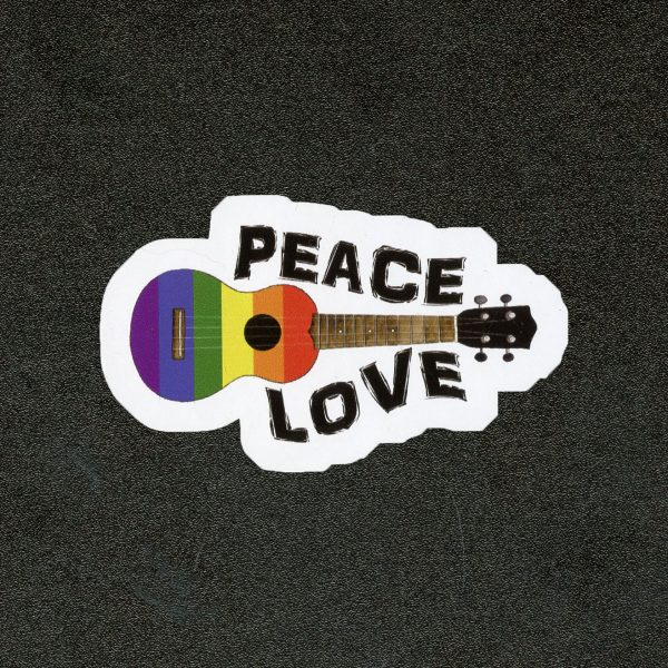 Peace Love Ukulele Sticker