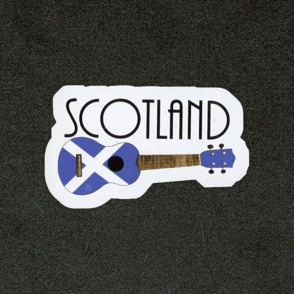 Scotland Ukulele Sticker