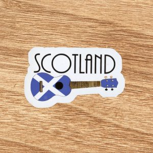 Scotland Ukulele Sticker