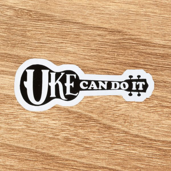 Uke Can Do It Ukulele Sticker