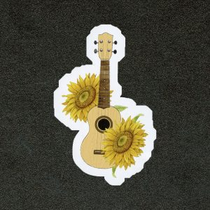 Sunflower Floral Ukulele Sticker
