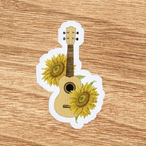 Sunflower Floral Ukulele Sticker