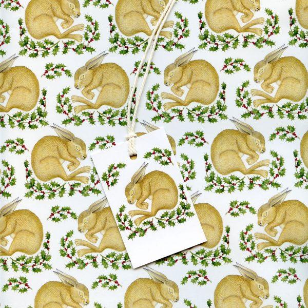 Christmas-hare-gift-wrap