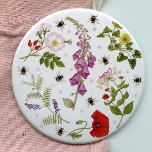 Wild Flowers Pocket Mirror