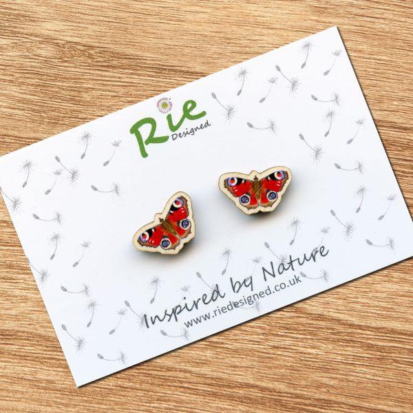 Peacock-Butterfly-Earrings
