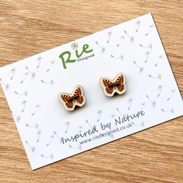 Tortoiseshell-butterfly-earrings