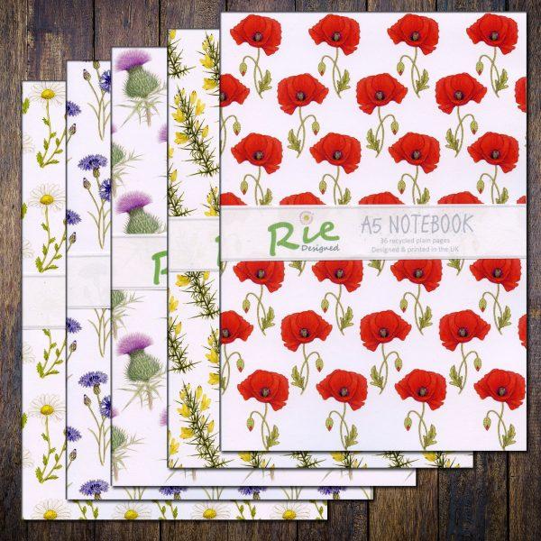 summer-wild-flower-notebook-set