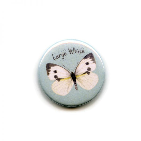 Large white butterfly magnet