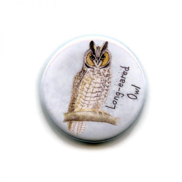 Long eared owl magnet