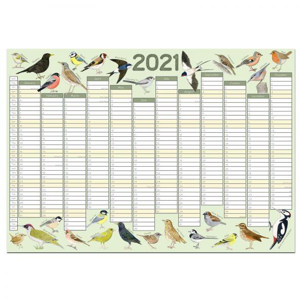 Garden Birds 2021 Wall Planner