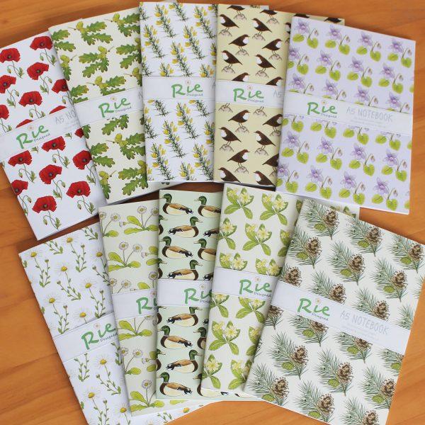 A5 notebooks assortment