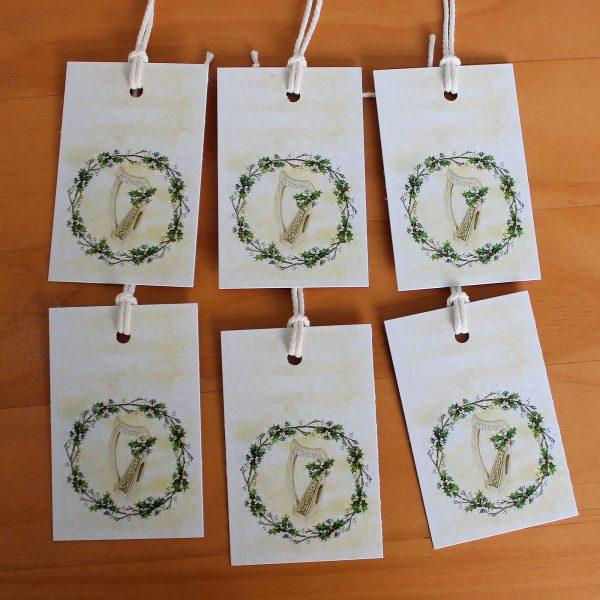celtic-harp-xmas-tags