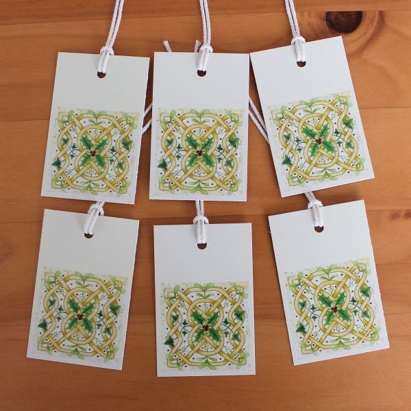 celtic knot Christmas gift tags