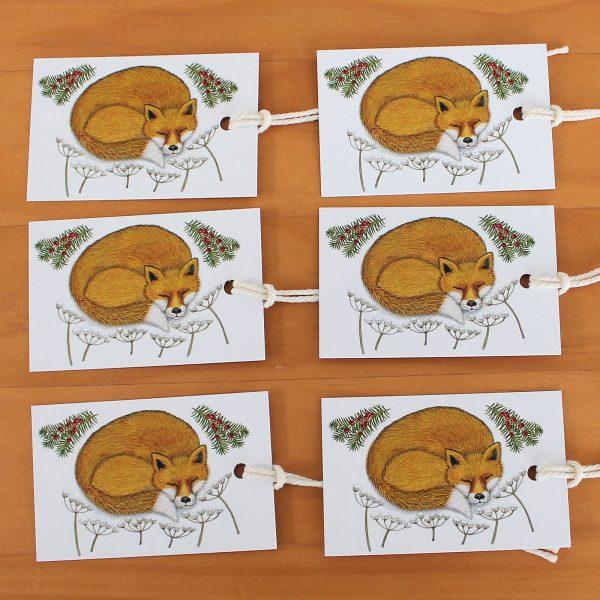 snowy-fox-gift-tags