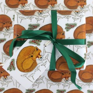 snowy-fox-gift-wrap