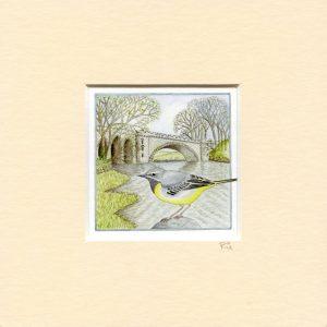 grey-wagtail-tongland-bridge-mounted-miniprint