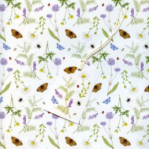Meadow Wild Flower Wrapping Paper and tags.